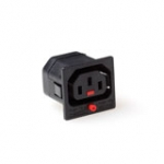 C13 Lock Socket Black