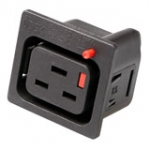 C19 Lock Socket Black